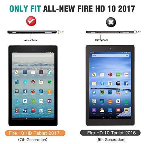 fire HD10 Tablets Protect Case 2017 PU Leather Slim Protective Case for fire HD10 Case Cover Shell Leather Cover Sleeve Pouch Super Fit